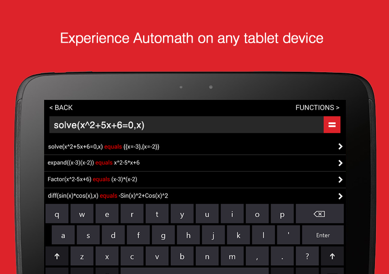 Screenshot von AutoMath Photo Calculator - Android App