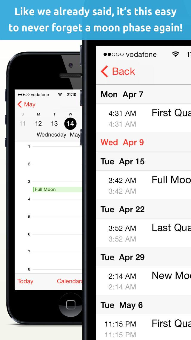 mondphasen kalender mondphasen in iphone kalender. Black Bedroom Furniture Sets. Home Design Ideas