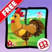 App Icon: Bauernhof Puzzlespiele 123 für iPad gratis - Wörter- Lernspiel für Kinder 4.5