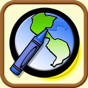 App Icon: Color My World Lite - Coloring Book With A TWIST! 2.1.1