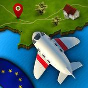 App Icon: GeoFlug Europa - Spaß am Lernen der europäischen Geografie 3.1