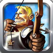 """App Icon: """" Das Bogenschießen Spiel - Schieß den Apfel und sei kostenlos der beste Schütze mit dem Pfeil und Bogen 4.8"""